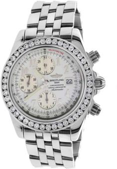Breitling A13355 Crosswinds Racing Chronograph Diamond & Stainless Steel Mens Watch #menswatches