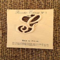 ANCIEN PLUMETIS N° 8 LETTRE  N /& OLD antique LETTER SEWING