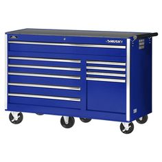 Keep all your tools secured and organized in the International Workshop Series 54 in. Roller Cabinet Tool Chest in Black. Excellent for heavy use, this International tool cabinet is made with