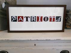 New England Patriots Sign Collage. $50.00, via Etsy.