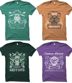 Best T shirt design vector reviews in 2019 [Fully update] - maabdullah.us Create T Shirt Design, T Shirt Design Vector, Logo Design, Design Typography, Skull Motorcycle, Vintage T-shirts, Design Vintage, T Shirt Factory, Best T Shirt Designs
