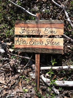 Happily ever after starts here rustic wedding by SawmillCreations, $30.00