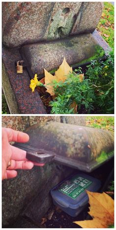 Unlock geocaching!  This cache would probably be relatively safe from being muggled.  (pics stitched together from websta and pinned to Creative Geocache Containers - pinterest.com/islandbuttons/creative-geocache-containers/)