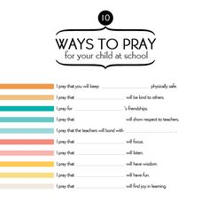 10 ways to pray for your kids while in school-imom