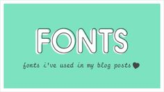 puglypixel blog shares list of free and purchased fonts