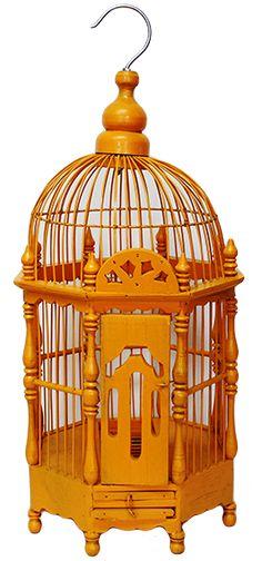 Клетка для птиц из тикового дерева, 23х56х23 см, в ассортименте