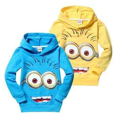 2015  #minions clothes despicable me 2 kids hoody boys girls Sweatshirt cotton long sleeve