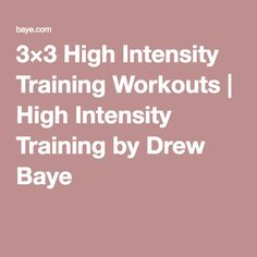 3×3 High Intensity T