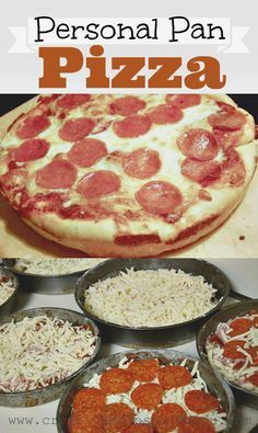 http://creativemeinspiredyou.com/pizza-pizza/ Never have to buy out again for delicious personal pan type pizza, great dough for homemade pizza, yum!