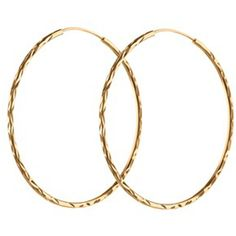 PERNILLE CORYDON Large Facet Creol Hoops - Gold (€49) ❤ liked on Polyvore featuring jewelry, earrings, accessories, gold, gold jewelry, holiday jewelry, hoop earrings, evening earrings and yellow gold earrings