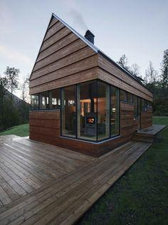 cabañas de madera plataforma terraza