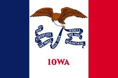 I love to share you country flags to give you a good reference about many country flags from around the world. This is the State Of Iowa Flag, it's featured with a vertical tricolor of blue, white, and red. I share you this flag picture as one of the collection of State Flags Of The United States Of America.    Iowa Flag Meanings    The color of blue, white, and red representing that Iowa was a part of the French Louisiana Territory. Bald eagle derived from the Seal of Iowa.