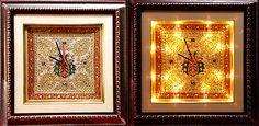 #handmade #Gold #work #marble #wall #clock with #Led #Light #beautiful #antique #wallclock #Ebay #Handicrunch