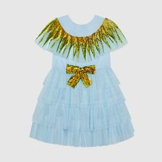 Children's tulle dress with sequins
