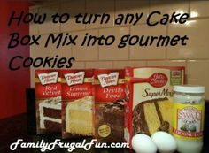 You're just 2 simple steps away from turning any cake box mix into a delicious, gourmet cookie! Really!
