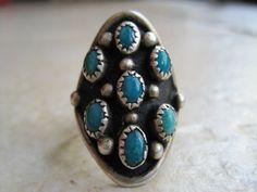 vintage Navajo snake eye ring.