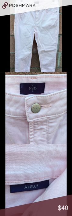 NYDJ BLUSH PINK ANKLE SKINNY JEANS FOR WOMEN Never bee used, awesome color, perfect for summer NYDJ Jeans Skinny