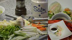 Gefüllte Reispapierrollen. Ein frisches leichtes Rezept für heiße Sommertage...