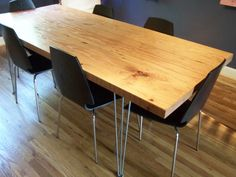 Make This: Reclaimed Modern Dining Table – Design & Trend Report Diy Dining Room Table, Dining Table Design, Modern Dining Table, Diy Table, Interior Inspiration, Diy Furniture, Interior Design, Apt Ideas, Google