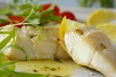 Easy Halibut Fillets with Herb Butter. Photo by Thorsten