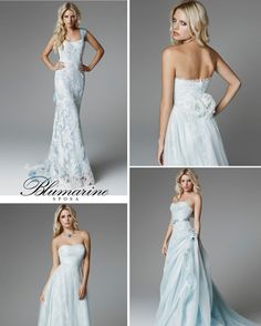 Blue and White Wedding Ideas - Light blue wedding dresses for 2013