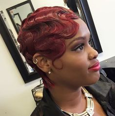 Cool Waves - Black Hair Information Community Short Bob Hairstyles, Weave Hairstyles, Vintage Hairstyles, Wedding Hairstyles, Homecoming Hairstyles, Party Hairstyles, Hairstyle Ideas, Hair Ideas, Finger Waves Short Hair