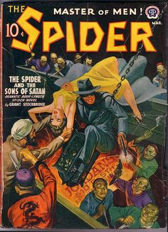 Cover Art from the Golden Age of Pulp Novels and Magazines Pulp Fiction Art, Pulp Art, Science Fiction, Spider Book, Pulp Magazine, Magazine Covers, Magazine Art, The Lone Ranger, Book Cover Art