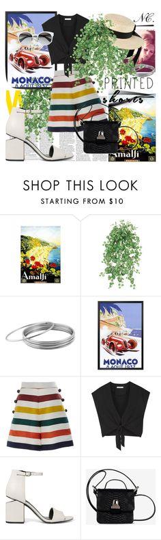 """HolidayCharm. NC contest."" by noemicapozza ❤ liked on Polyvore featuring West Coast Jewelry, Carolina Herrera, Alice + Olivia, Alexander Wang, MM6 Maison Margiela, Mich Dulce and printedshorts"