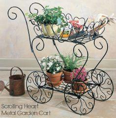 Scrolling Heart Garden Cart