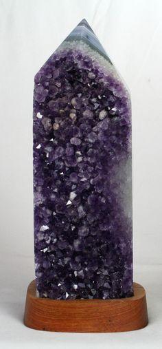 Beautiful dark purple Amethyst Geode Point.