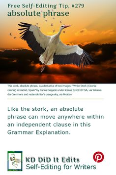 A Grammar Explanation for self-editing writers who will enjoy this example of the movability of this absolute phrase.