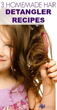 3 Homemade Hair Detangler Recipes #hair #naturalhair #haircare #parenting #detangler #allnatural
