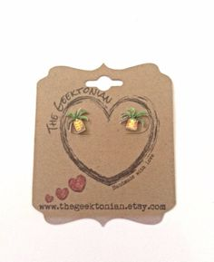 Pineapple earrings by TheGeektonian on Etsy, $8.00