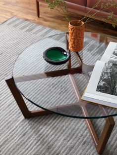 We're proud to announce that the Atlas Table received Interior Design magazine's top honor for 2013 in the side table category. And now we've also expanded the collection with glass tabletops.