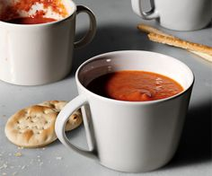 Healthy Winter Tomato Soup! No cream just skim milk and greek yogurt! Love tomato soup.