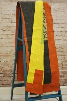 One of a Kind Indian Vintage Kantha Sari Throw by Modelli Creations on @HauteLook