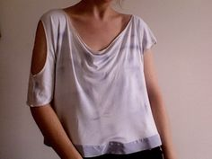 The Deleware - eco-friendly, hand-painted bamboo jersey blouse $64 by Leanne Marshall