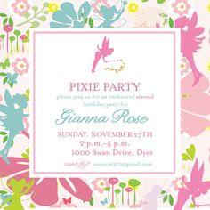 Pixies and Pirates Invitation- Tinkerbell. $14.00, via Etsy.
