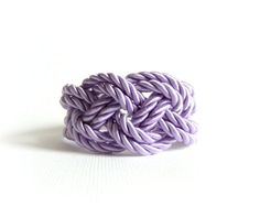 Lilac Bracelet Sailor Knot Knot Bracelet Rope by NaTavelli on Etsy, €9.00