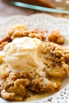 Easy Homemade Apple Crisp