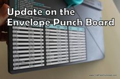 Update on Envelope Punch Board From We R Memory Keepers