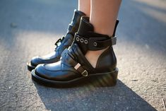 Balenciaga Cut Out Boots (These are most definitely out of my price range...but still cool.)