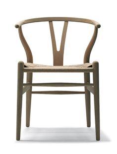 Cadeira Wishbone Original, Madeira Clara