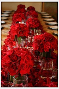 red decorations   Decorations, Red Roses For Valentine Day Wedding Table Decorations And ...