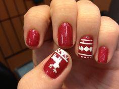 Perfect Christmas nails :)