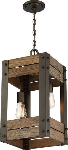Nuvo Lighting Winchester Pendant Light In Bronze Rustic Light Fixtures, Rustic Lighting, Woodworking Projects Diy, Diy Wood Projects, Rustic Furniture, Diy Furniture, Homemade Lamps, Diy Lampe, Rustic Home Design