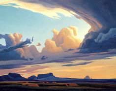 Ed Mell, ) Ganado Clouds, 2004 Oil on canvas, x inches framed Purchase, Art Acquisition Fund Artwork © Ed Mell Landscape Concept, Abstract Landscape, Landscape Paintings, Western Landscape, Desert Art, Southwest Art, Oeuvre D'art, Ciel, Art And Architecture
