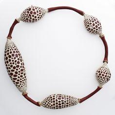Jillian Moore - Porosus (neckpiece), 2011, foam, composite and epoxy resin, polymer clay, rubber, paint,