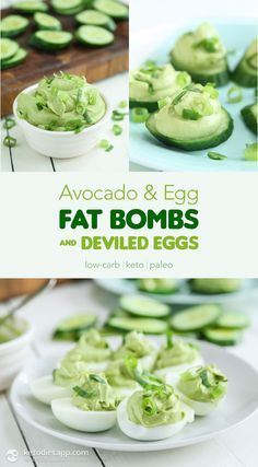 30 Amazing Keto Snacks For Weight Loss: Avocado & Egg Fat Bombs And Deviled Eggs by Keto Diet App. These delicious & healthy keto snacks help you maintain ketosis and won't break your ketogenic diet. If you're looking for quick and easy keto diet snacks t Keto Avocado, Avocado Recipes, Avocado Egg, Keto Fat, Low Carb Keto, Ketogenic Recipes, Low Carb Recipes, Ketogenic Diet, Diet Recipes