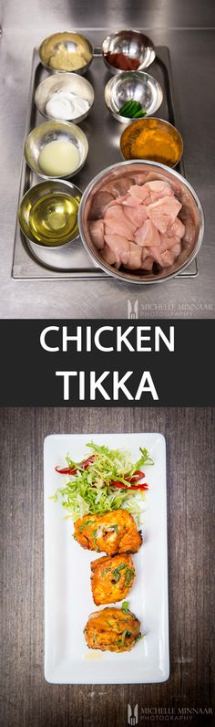 Chicken Tikka, also known as Murgh Masala, is a classic Indian dish that almost always features as a starter in British Indian restaurant menus. Indian Food Recipes, Asian Recipes, Gourmet Recipes, Healthy Recipes, Delicious Recipes, Yummy Food, Starter Dishes, Ways To Cook Chicken, Chicken Tikka